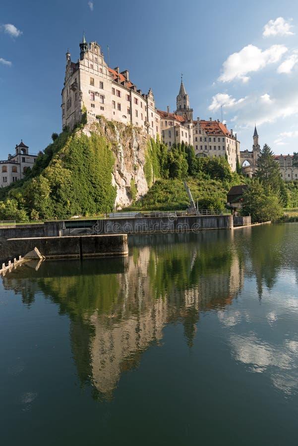 Château de Sigmaringen sur la rivière Danube, Allemagne du sud photo libre de droits
