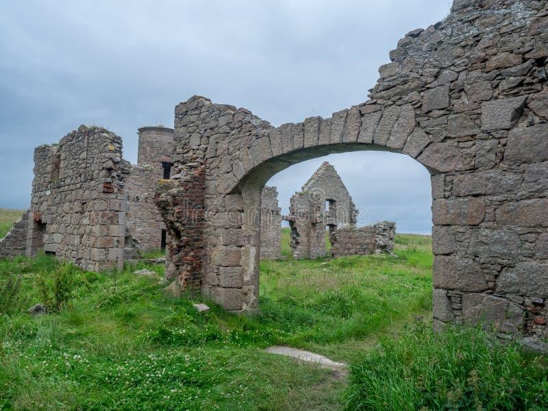 Château de Slains, Ecosse image libre de droits