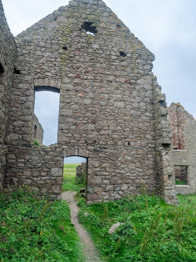 Château de Slains, Ecosse photo stock