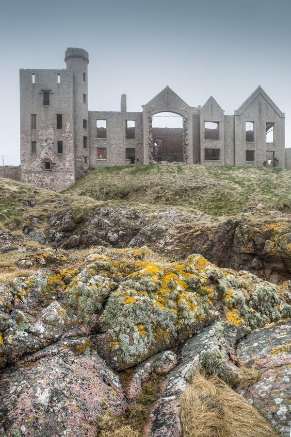 Château de Slains en Ecosse photographie stock