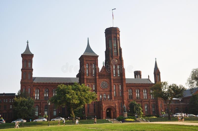 Château de Smithsonien dans le Washington DC photos libres de droits