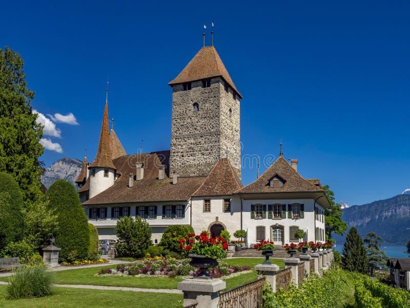 Château de Spiez, lac Thun, Bernese Oberland, Suisse images libres de droits