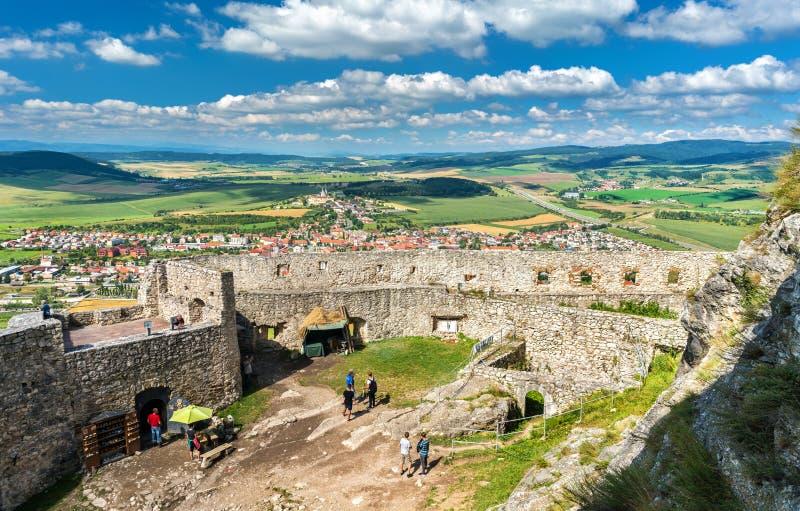Château de Spis, un site de patrimoine mondial de l'UNESCO en Slovaquie image stock