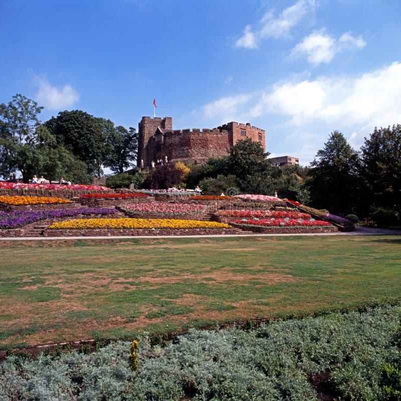 Château de Tamworth et jardins, R-U photographie stock libre de droits