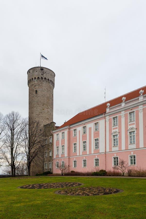 Château de Toompea, le centre du gouvernement de l'Estonie photo libre de droits