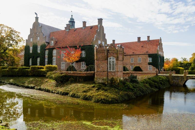 Château de Trolle Ljungby dans le skane du nord photographie stock libre de droits