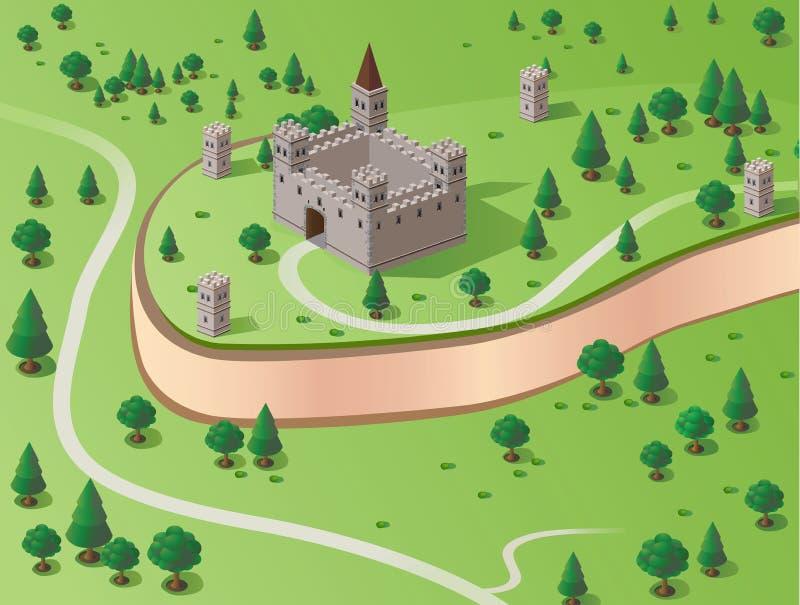 Château de vecteur illustration stock