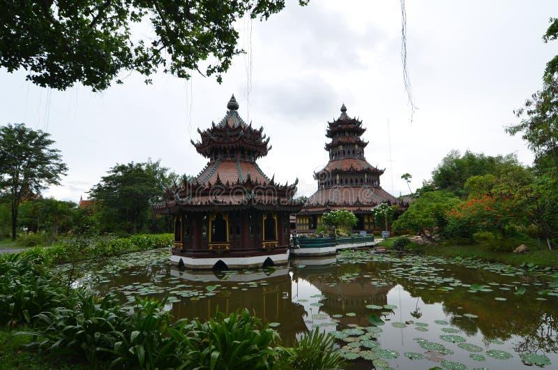 Château de vieillesse en Thaïlande image libre de droits