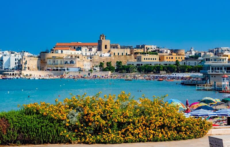 Château de ville d'Otranto, Italie images stock