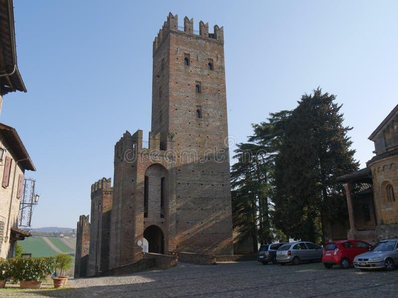 """Château de Visconti à Castell """"Arquato images stock"""
