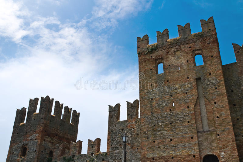 Château de Visconti. Castell'Arquato. l'Emilia-romagna. l'Italie. photo libre de droits
