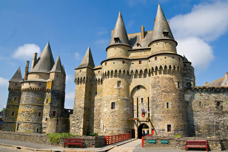 Château de Vitré, Brittany, France photos stock