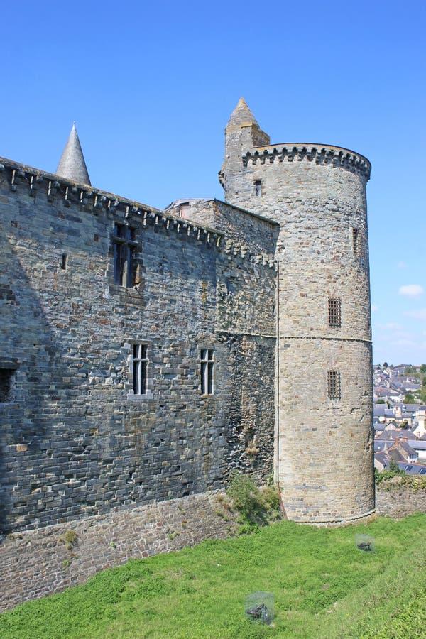 Château de Vitre, France photo stock