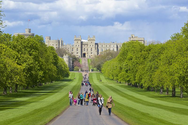Château de Windsor et grand parc, Angleterre photo libre de droits