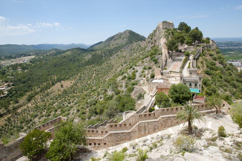 Château de Xativa - l'Espagne photos libres de droits