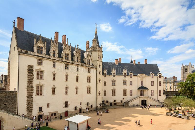 Château des ducs de Bretagne courtyard royalty free stock images