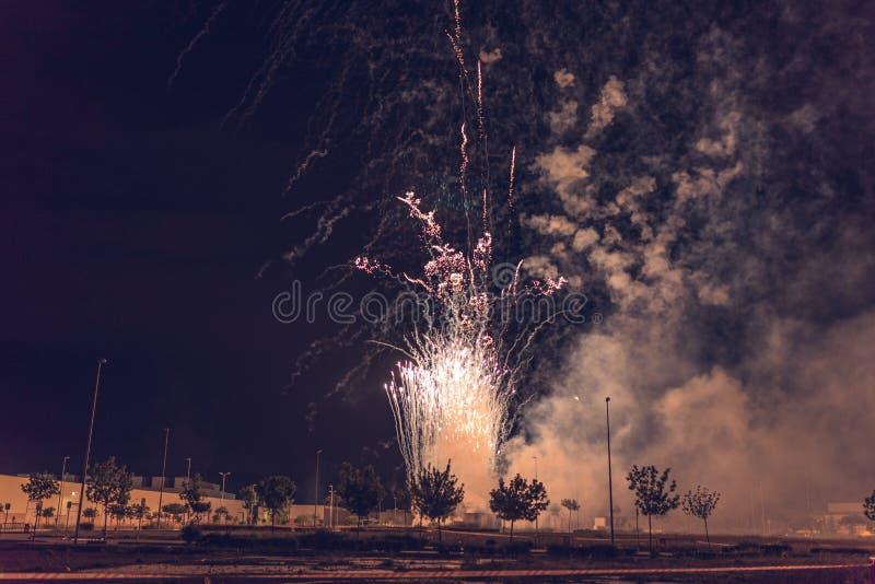 Château des feux d'artifice photo libre de droits