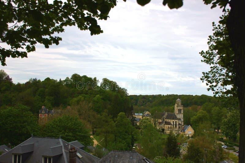 Château des pierrefonds en Picardie, France photo stock
