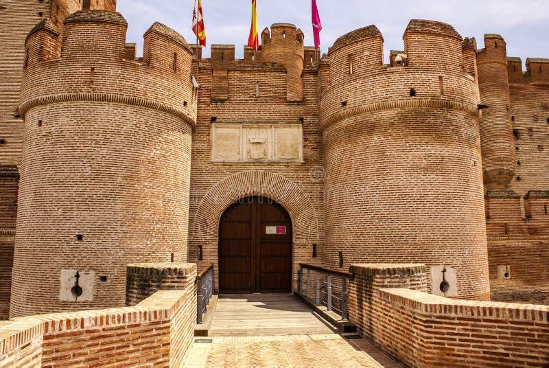Château du mota en Médina del campo, Valladolid, Espagne photos libres de droits