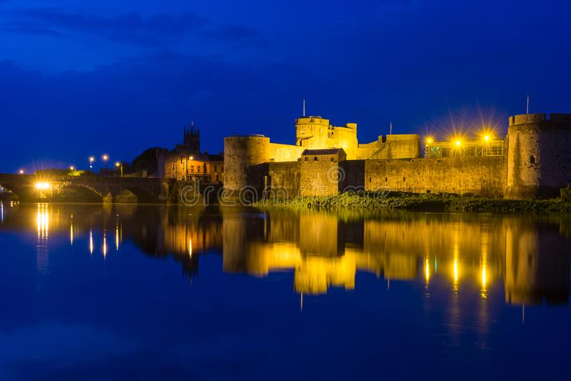 Château du ` s du Roi John, Limerick photo libre de droits