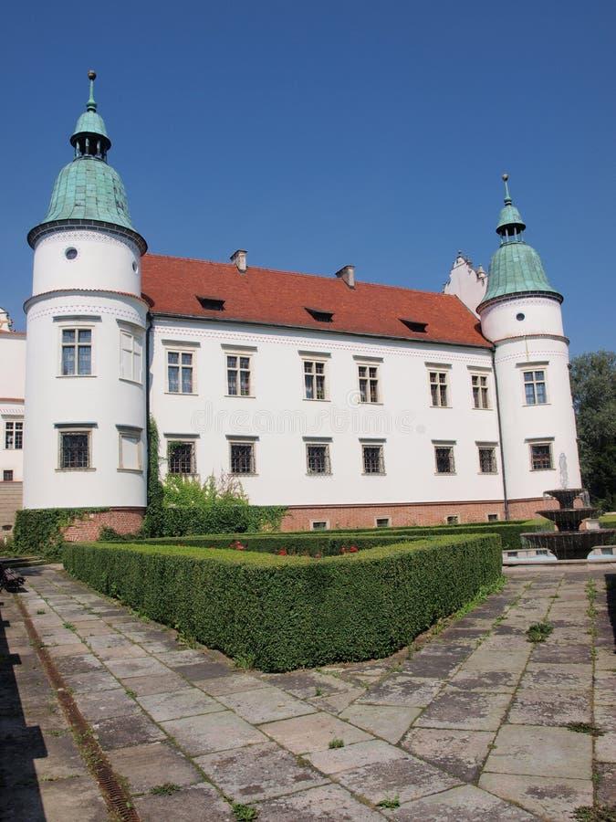 Château du ³ W Sandomierski de BaranÃ, Pologne photo libre de droits