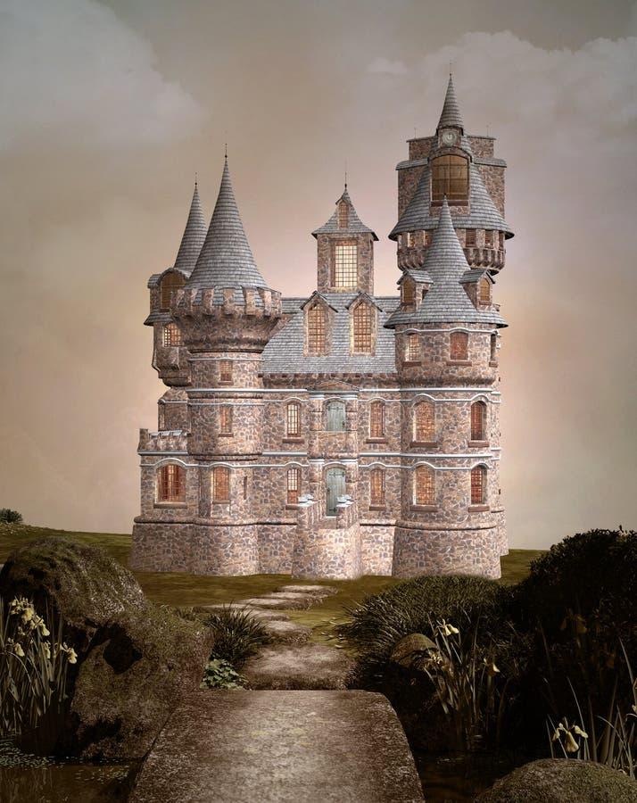 Château enchanté illustration libre de droits