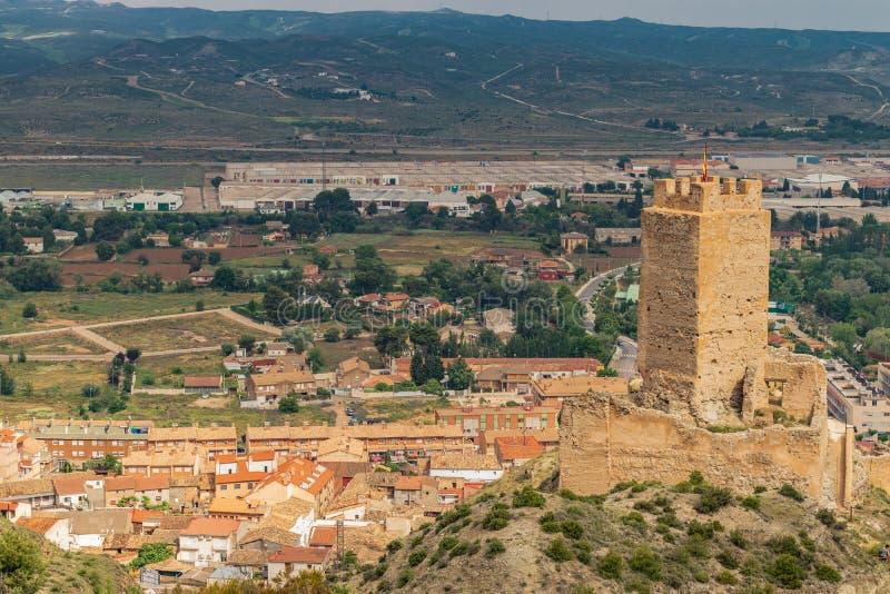 Château espagnol du château de Cadrete vieux photos libres de droits
