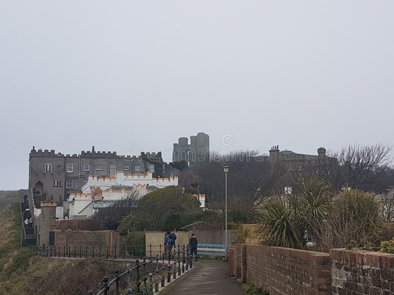 Château et bâtiments de Scarborough photo stock