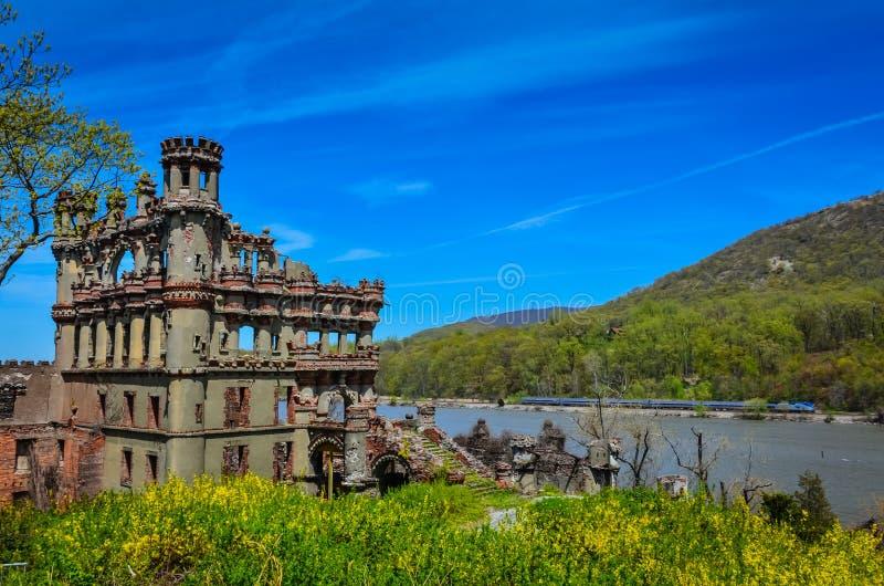 Château et Hudson Valley Rail de Bannerman image libre de droits