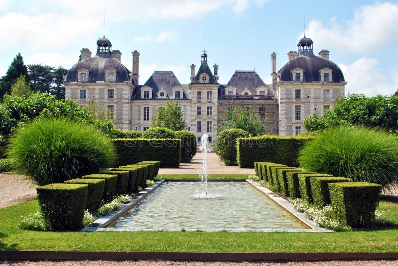 Château et jardin de Cheverny photos libres de droits