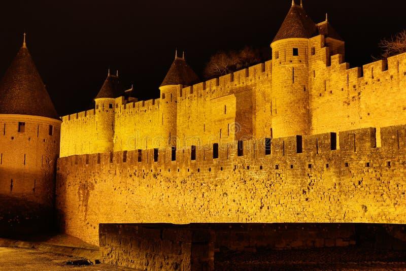 Château et murs de Carcassonne photos stock