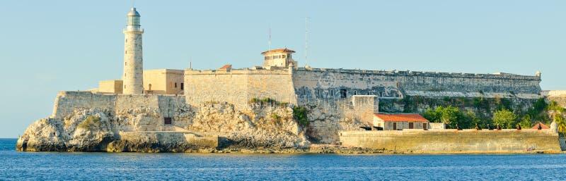 Château et phare d'EL Morro à La Havane image libre de droits