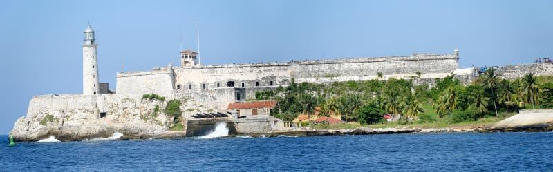 Château et phare d'EL Morro à La Havane photos stock