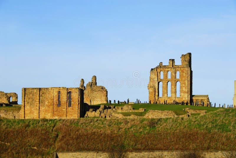 Château et Priory de Tynemouth photos libres de droits