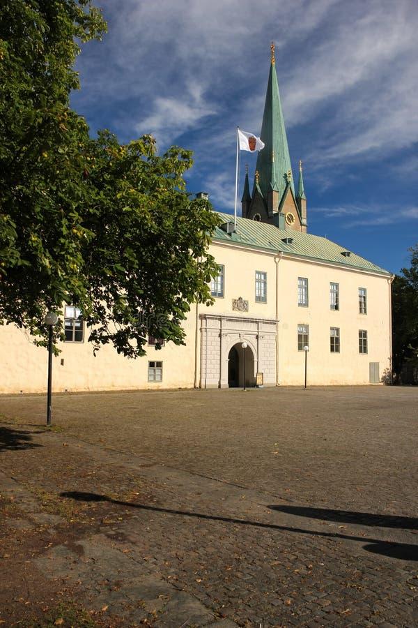 Château. Façade. Linkoping. Suède photo libre de droits