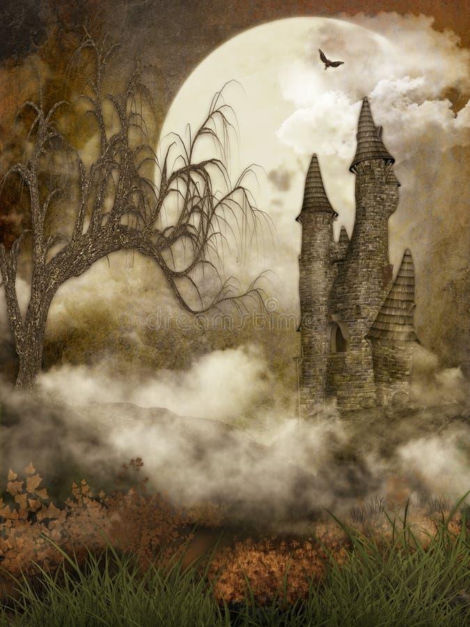 Château fantasmagorique illustration de vecteur