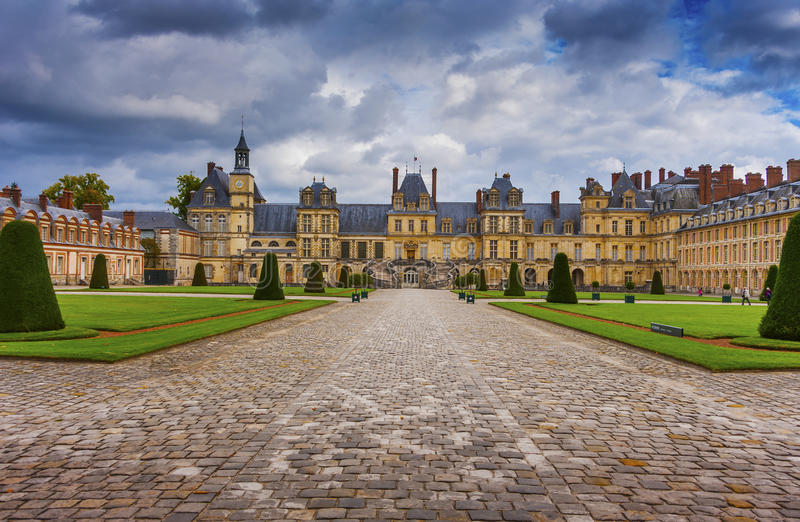 Château Fontainebleau, France photo stock