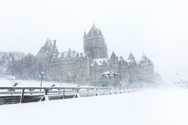 Château Frontenac de Québec images stock