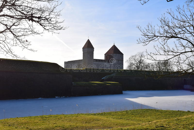 Château grand de Kuressaare dans Saaremaa, Estonie photo libre de droits