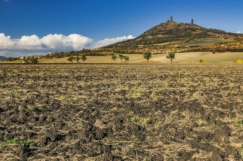 Château Hazmburk en automne photos libres de droits