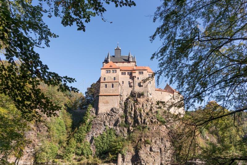 Château historique appelé Kriebstein, Allemagne photographie stock libre de droits