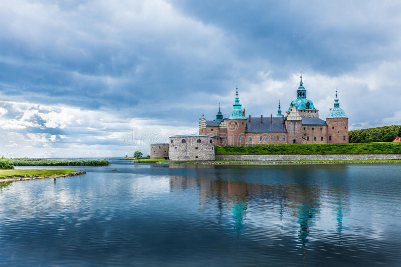 Château historique de Kalmar en Suède Scandinavie l'Europe landmark photo stock