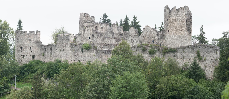 Château Hohenfreyberg chez Eisenberg image stock