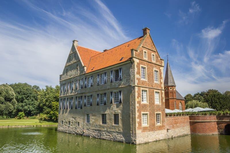 Château Hulshoff dans le munsterland près de Havixbeck photo stock