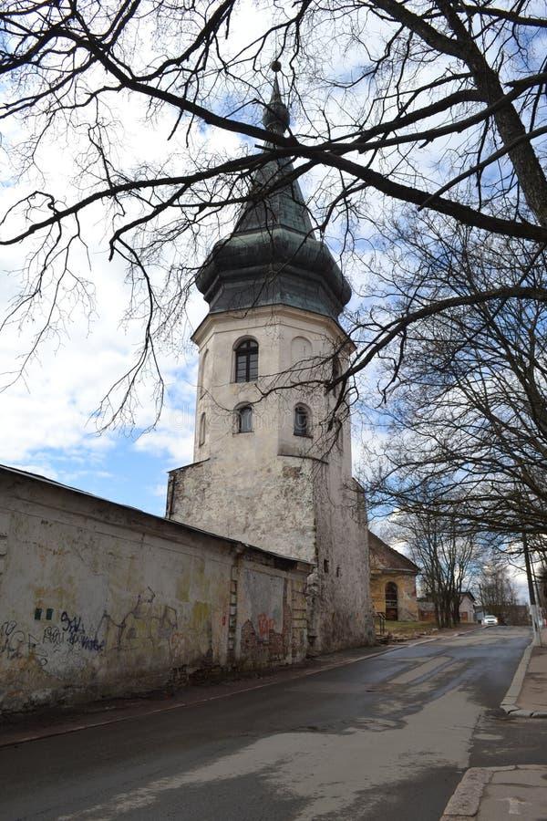 Château incroyable de Viborg au printemps image libre de droits