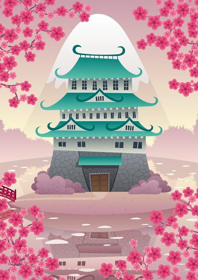Château japonais illustration stock