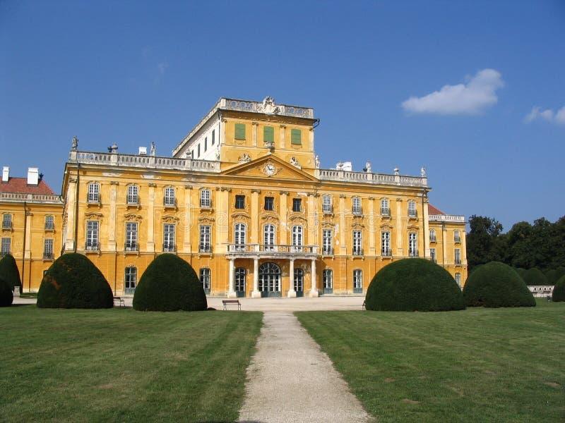 Château jaune photo stock