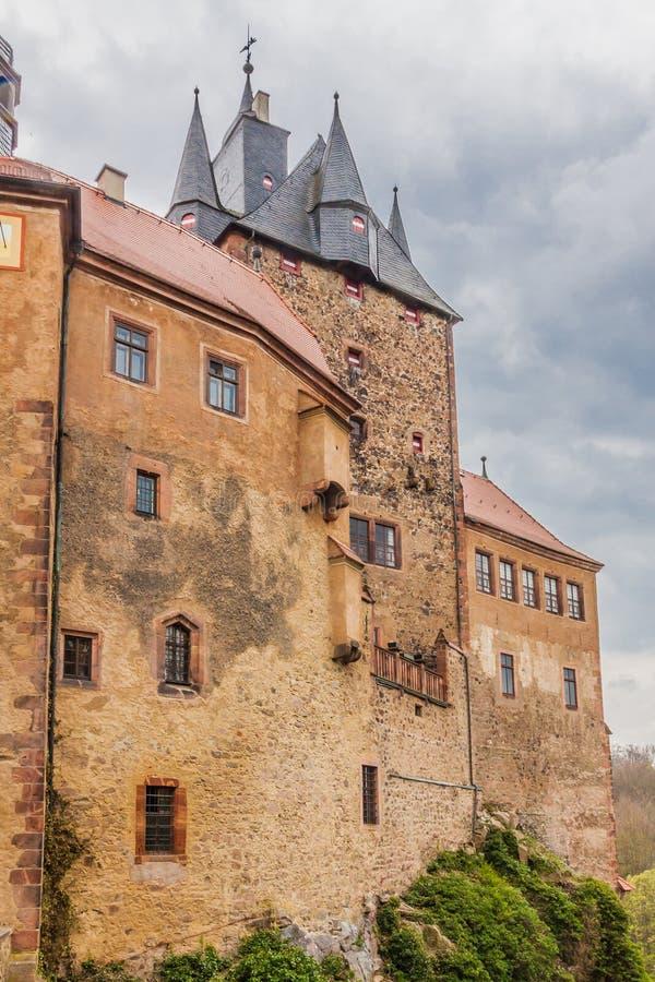 Château Kriebstein en Saxe images libres de droits
