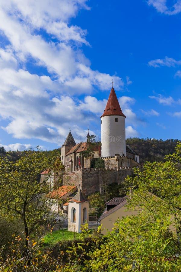 Château Krivoklat dans la République Tchèque image libre de droits