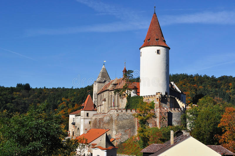 Château Krivoklat. République Tchèque photos libres de droits